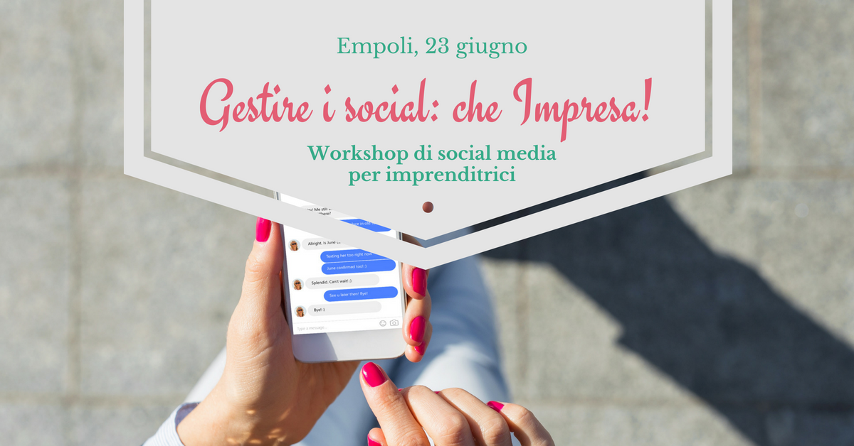 workshop social media per imprenditrici