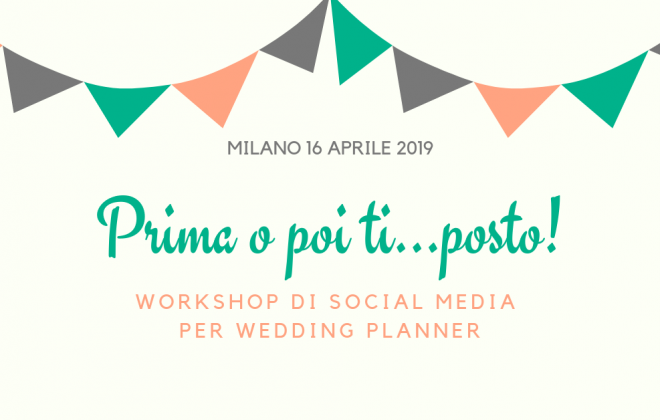 workshop di social media per wedding planner Milano
